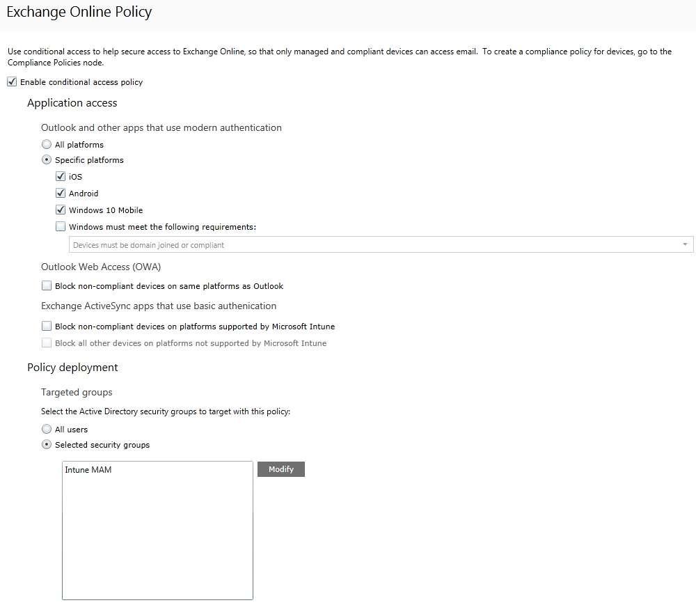 Configuring Intune Conditional Access for Browser - A Cloud Above